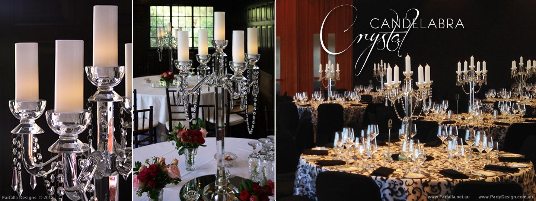 Crystal candelabra designer centrepieces table centre hire size candelabra 60cm h candels 13cm h x 5cm w junglespirit Gallery