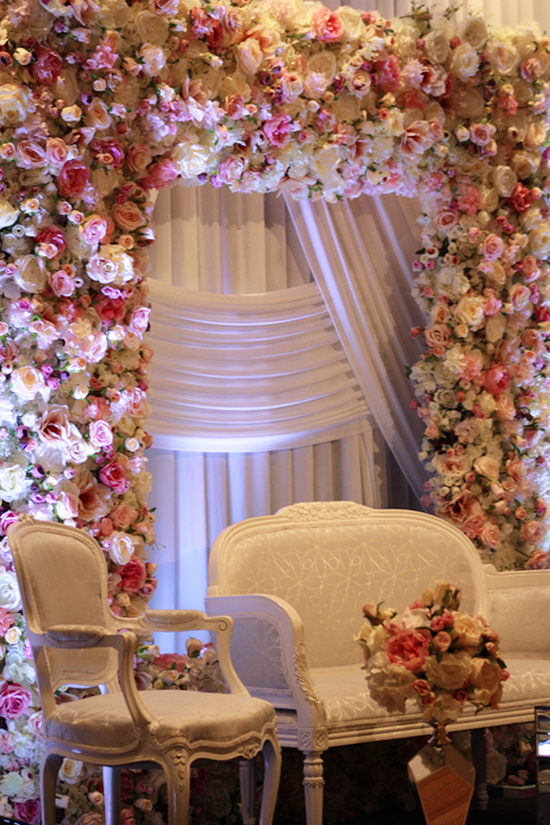 Photo 4. &nbsp;<b>Wedding Stage with Floral Frame</b>